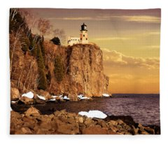 Split Rock Lighthouse Fleece Blanket
