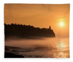 Split Rock's Morning Glow Fleece Blanket