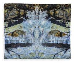 Split The Falls Fleece Blanket