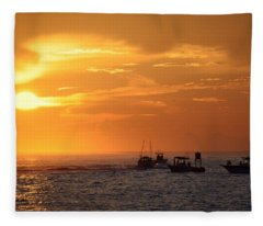 Sportfishermen Head Offshore Fleece Blanket