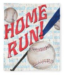 Sports Fan Baseball Fleece Blanket