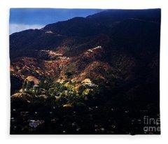 Spotlight From The Heavens Fleece Blanket
