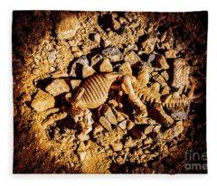 Spotlight On A Extinct Stegosaurus Fleece Blanket
