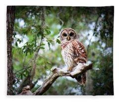 Spotted Owl II Fleece Blanket