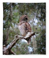 Spotted Owl Fleece Blanket