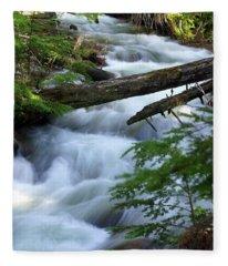 Sprague Creek Glacier National Park Fleece Blanket
