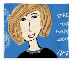 Spread Your Happy Around Fleece Blanket
