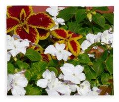 Spring Annuals Fleece Blanket
