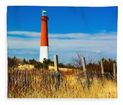 Spring At Barnegat Fleece Blanket