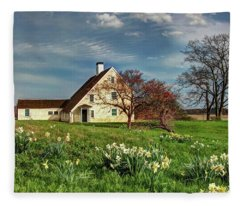 Spring At The Paine House Fleece Blanket