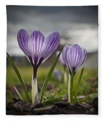 Spring Awakening Fleece Blanket