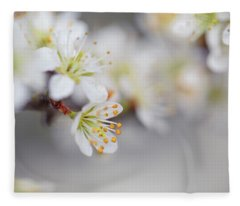 Spring Blossoms Fleece Blanket