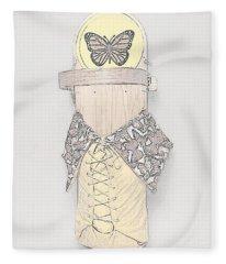 Spring Cradleboard Fleece Blanket