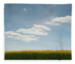 Spring Day Clouds Fleece Blanket