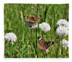 Spring Delight Butterflies Fleece Blanket