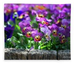 Spring Faces Fleece Blanket