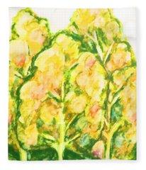 Spring Fantasy Foliage Fleece Blanket