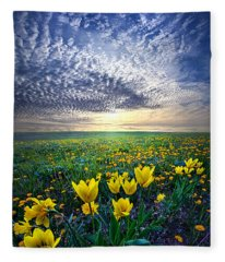 Spring Fever Fleece Blanket