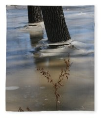 Spring Flood Fleece Blanket