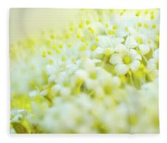 Flowering Trees Fleece Blankets