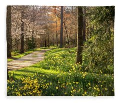 Spring Garden Path Fleece Blanket