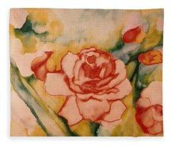 Spring Garden Fleece Blanket