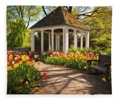 Spring Gazebo Fleece Blanket