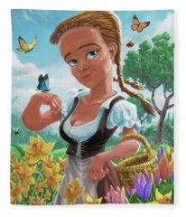 Spring Girl Fleece Blanket