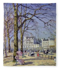 Spring In Hyde Park Fleece Blanket