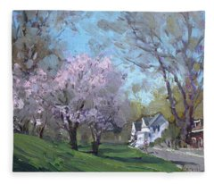 Spring In J C Saddington Park Fleece Blanket