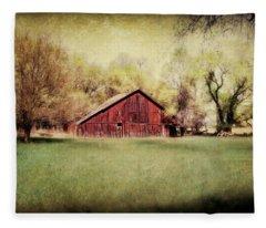 Spring In Nebraska Fleece Blanket