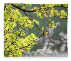 Spring In The Arboretum Fleece Blanket