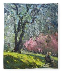 Spring In The Park Fleece Blanket
