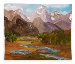 Spring In The Tetons Fleece Blanket