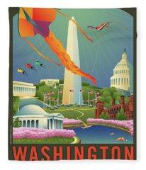 Spring In Washington D.c. Fleece Blanket