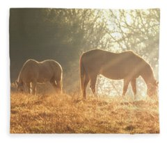 Spring Morning In The Ozarks Fleece Blanket