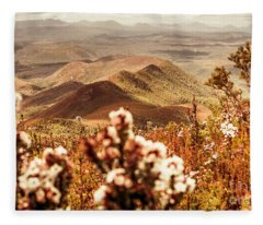 Spring Mountain Blossoms Fleece Blanket