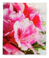Spring Of Flower Bouquets Fleece Blanket