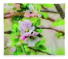Spring On A Branch Fleece Blanket