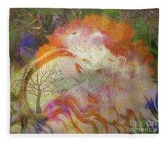 Spring Rain Fleece Blanket