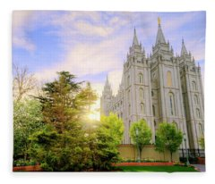 House Of God Photographs Fleece Blankets