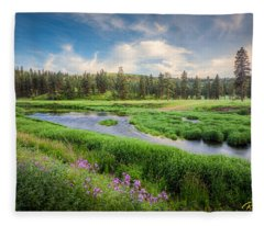 Spring River Valley Fleece Blanket