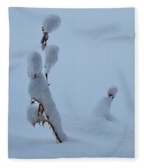 Spring Snow Fleece Blanket