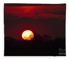 Spring Sunset Fleece Blanket