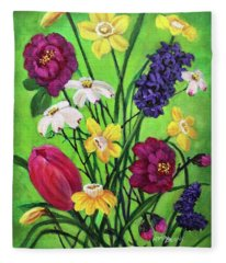 Spring Symphony Fleece Blanket