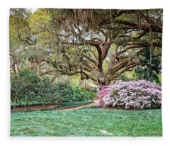 Spring Azaleas In Florida Fleece Blanket