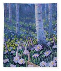 Spring Treasures Fleece Blanket