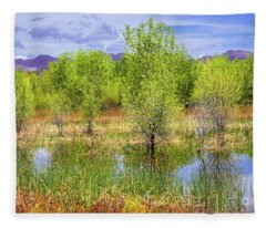 Springtime At Bosque Del Apache Fleece Blanket