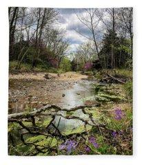 Springtime At The Creek Fleece Blanket