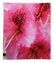 Springtime Azalea Fleece Blanket